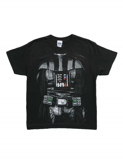 Boys Star Wars Darth Vader Costume T-Shirt, halloween costume (Boys Star Wars Darth Vader Costume T-Shirt)