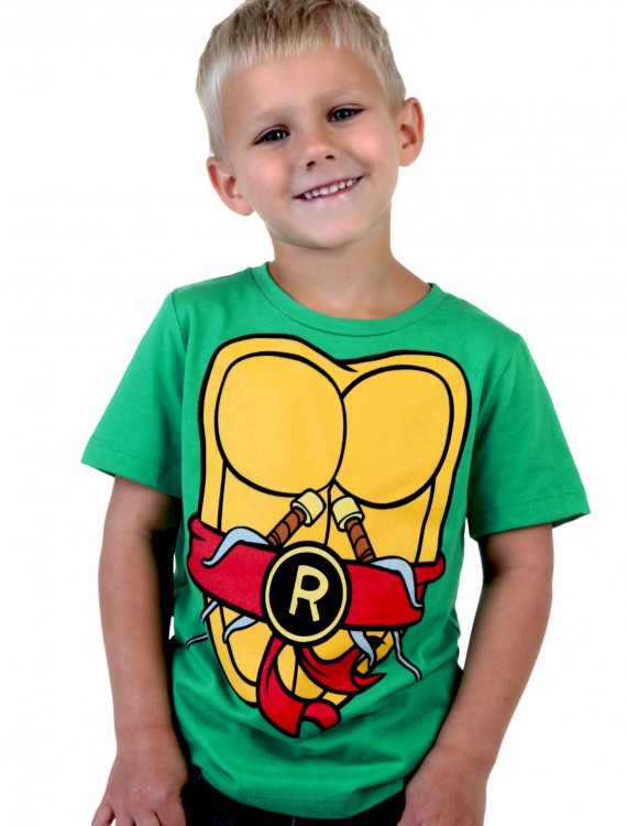 Toddler TMNT Raphael Costume T-Shirt, halloween costume (Toddler TMNT Raphael Costume T-Shirt)