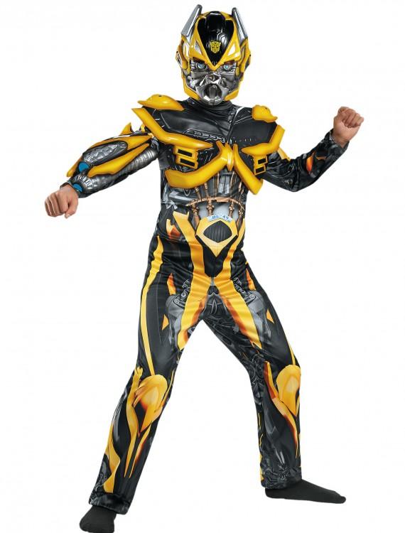Boys Transformers 4 Bumblebee Deluxe Costume, halloween costume (Boys Transformers 4 Bumblebee Deluxe Costume)