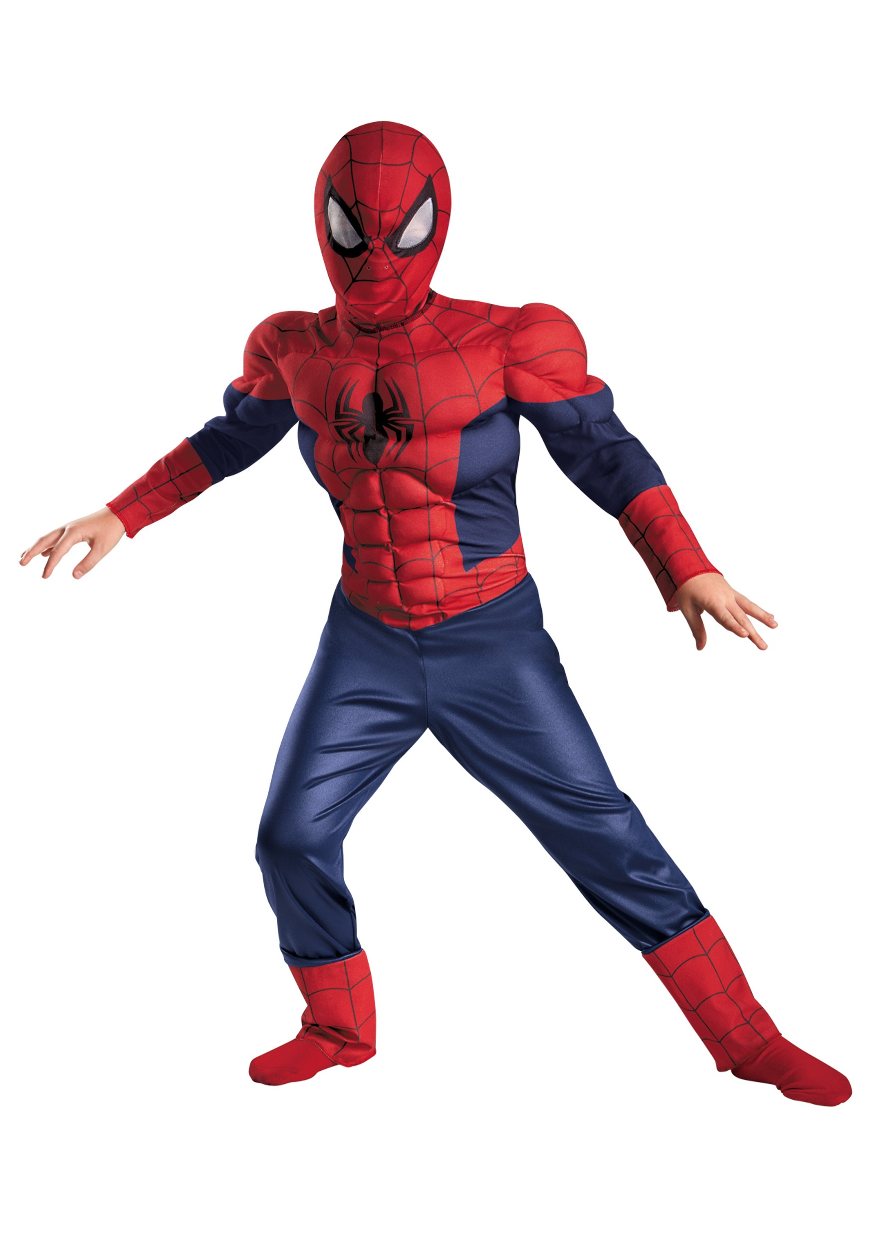 Boys Ultimate Spider-Man Classic Muscle Costume  sc 1 st  Halloween Costumes : spiderman childs costume  - Germanpascual.Com