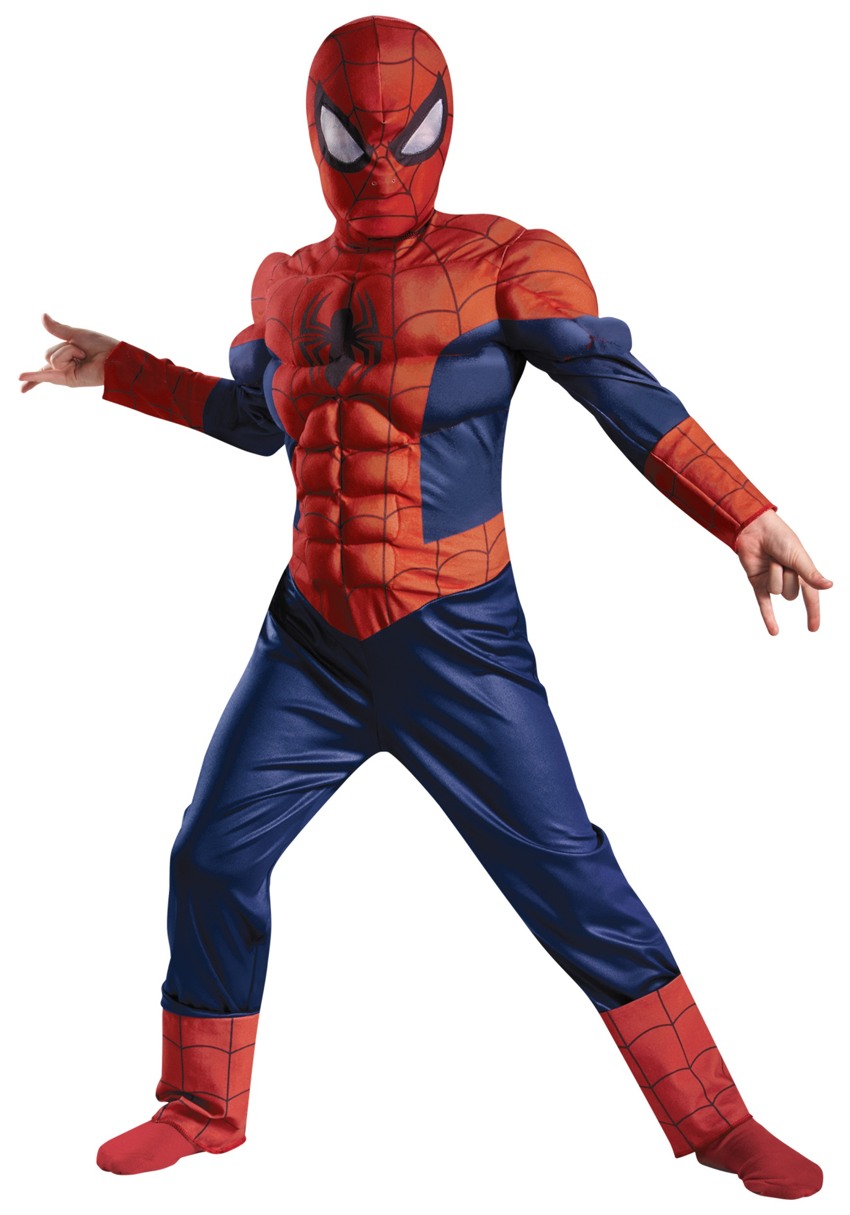 boys ultimate spider-man muscle light up costume - halloween costumes