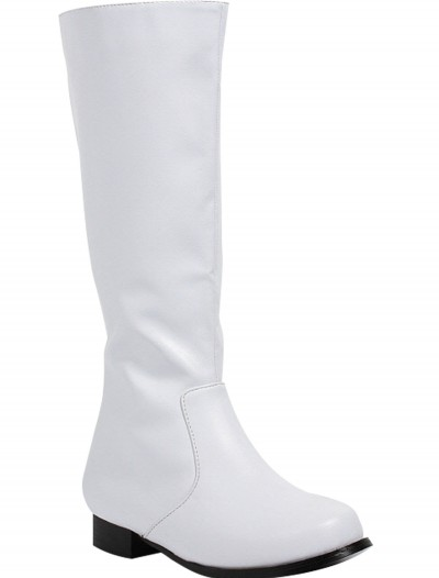 Boys White Costume Boots, halloween costume (Boys White Costume Boots)