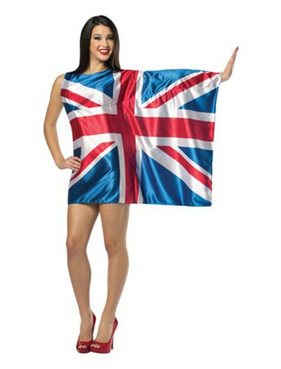 British Flag Dress, halloween costume (British Flag Dress)