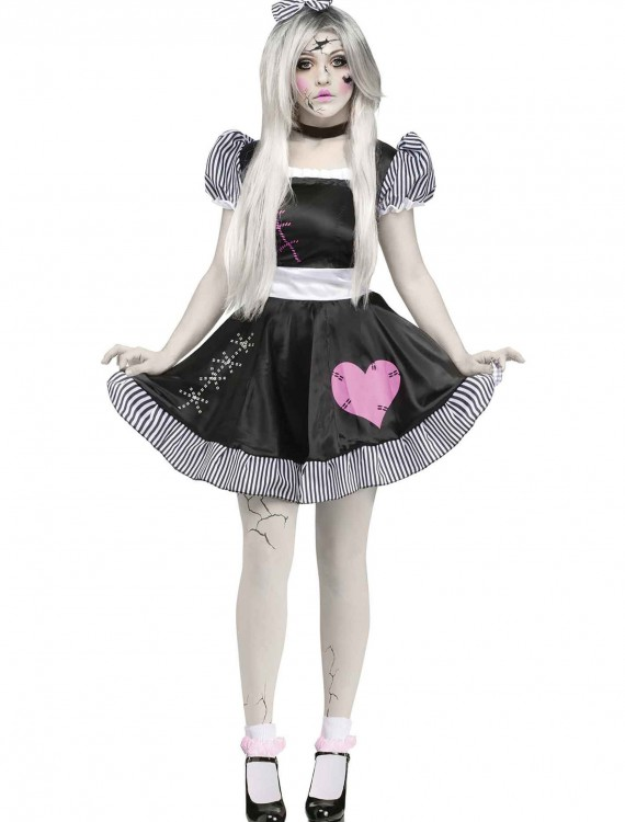 Broken Doll Adult Costume, halloween costume (Broken Doll Adult Costume)