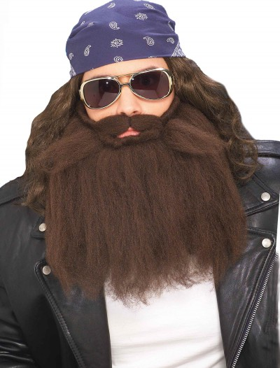 Brown Biker Beard & Mustache, halloween costume (Brown Biker Beard & Mustache)
