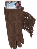 Brown Fringe Cowboy Gloves, halloween costume (Brown Fringe Cowboy Gloves)