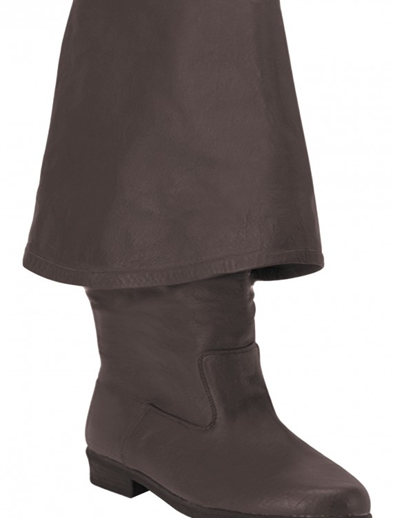 Brown Leather Pirate Boots, halloween costume (Brown Leather Pirate Boots)