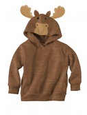 Brown Moose Face Hoodie, halloween costume (Brown Moose Face Hoodie)