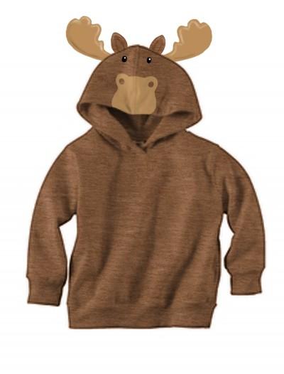 Brown Moose Face Hoodie, halloween costume (Brown Moose Face Hoodie)