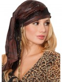 Brown Pirate Bandana, halloween costume (Brown Pirate Bandana)