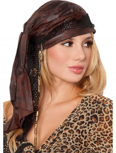 Brown Pirate Bandana, halloween costume (Brown Pirate Bandana)