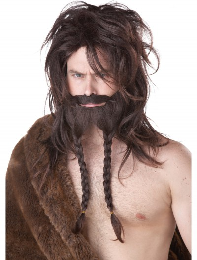 Brown Viking Wig, Beard and Mustache, halloween costume (Brown Viking Wig, Beard and Mustache)