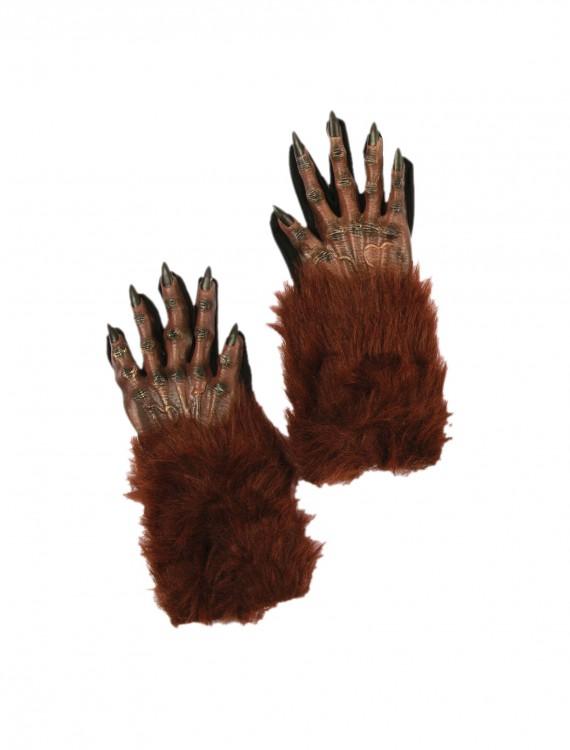 Brown Werewolf Gloves, halloween costume (Brown Werewolf Gloves)