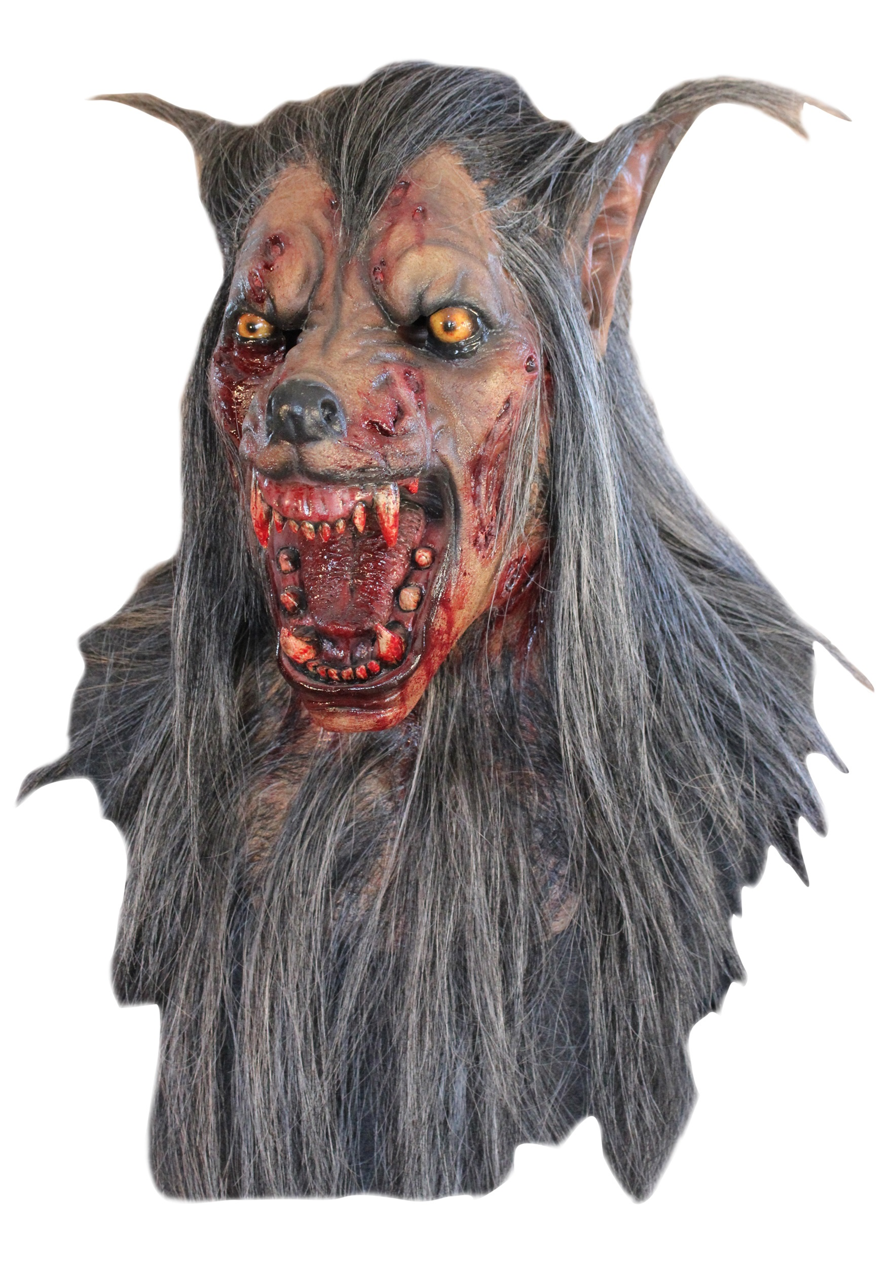 brown wolf mask - halloween costumes