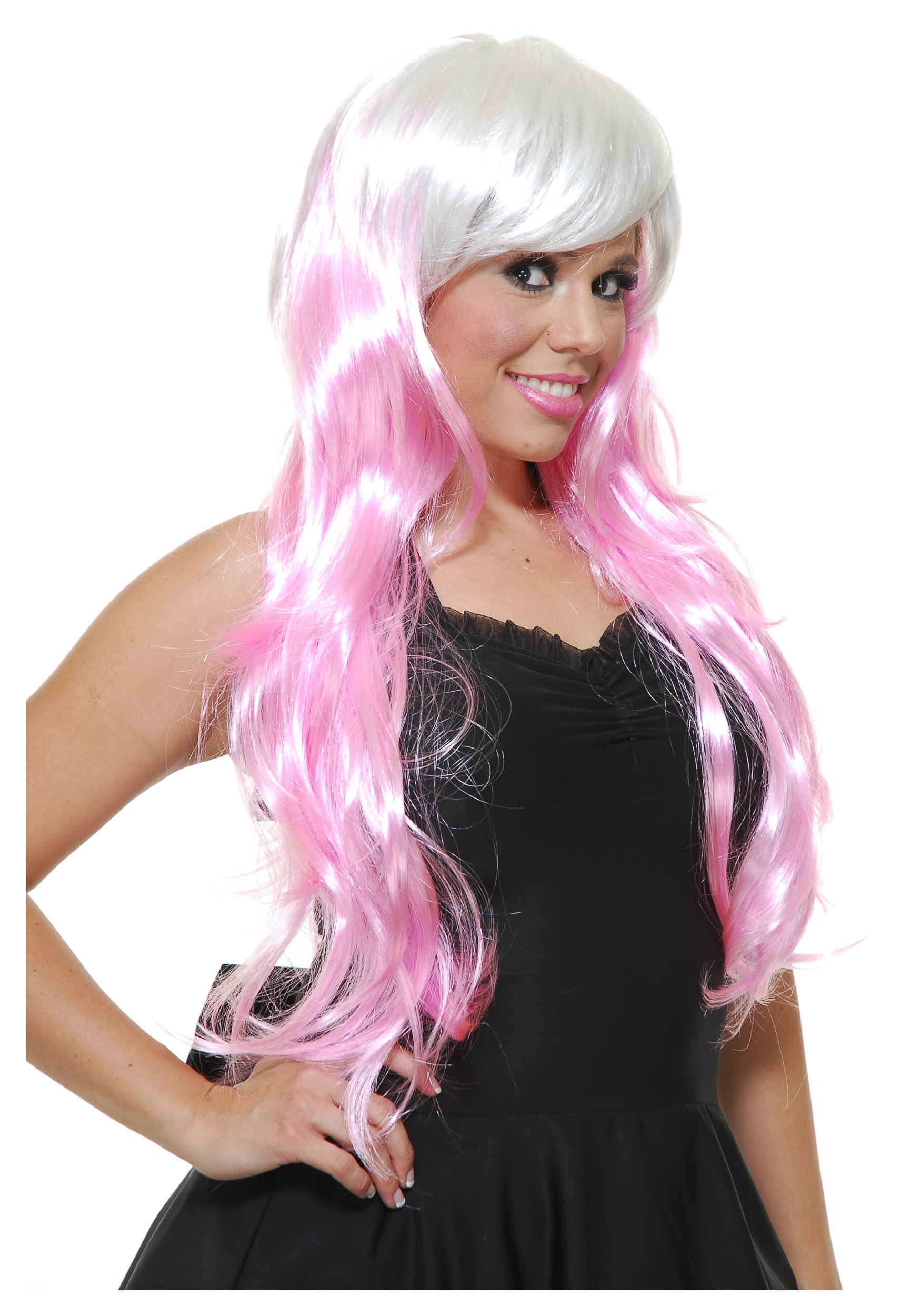 Bubble Gum Whitepink Wig Halloween Costumes