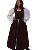 Burgundy Irish Renaissance Dress, halloween costume (Burgundy Irish Renaissance Dress)