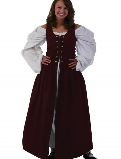 Burgundy Irish Renaissance Dress, halloween costume (Burgundy Irish Renaissance Dress)