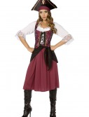 Burgundy Pirate Wench Costume, halloween costume (Burgundy Pirate Wench Costume)