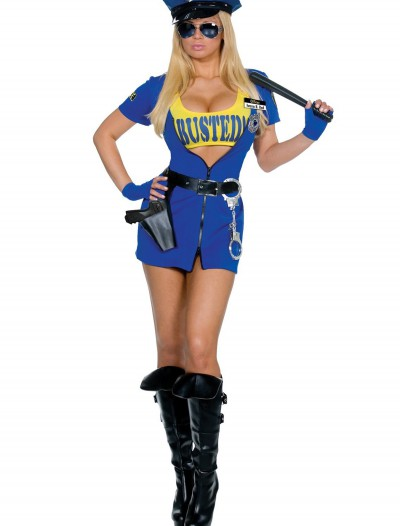 Busted Sexy Cop Costume, halloween costume (Busted Sexy Cop Costume)