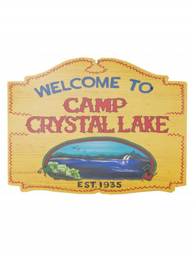 Camp Crystal Lake Sign, halloween costume (Camp Crystal Lake Sign)