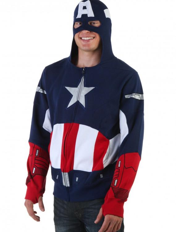 Captain America Hoodie, halloween costume (Captain America Hoodie)