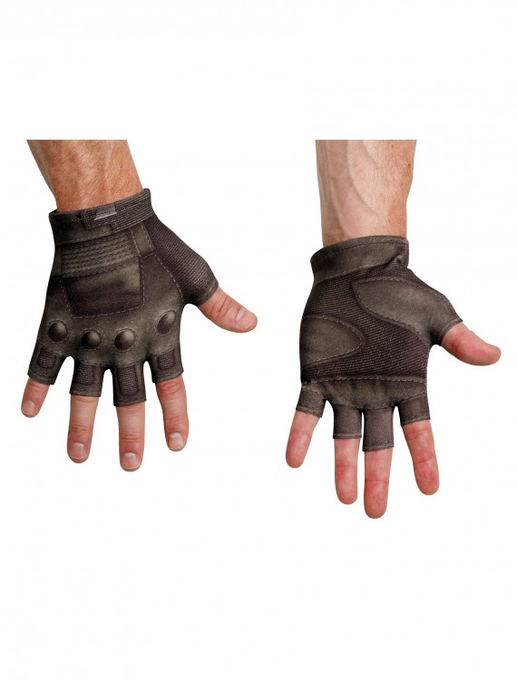 Captain America Movie 2 Adult Gloves, halloween costume (Captain America Movie 2 Adult Gloves)