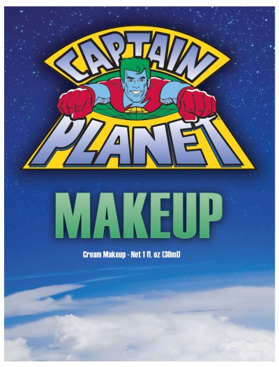 Captain Planet Blue Makeup, halloween costume (Captain Planet Blue Makeup)