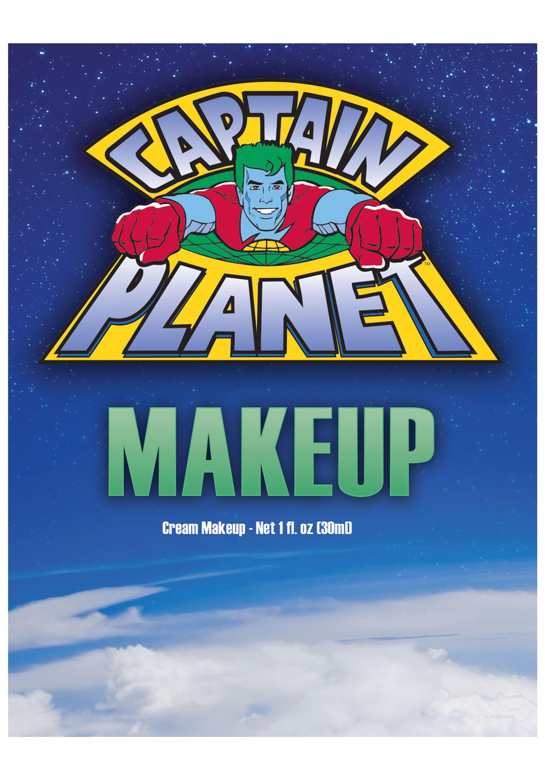 captain planet blue makeup - halloween costumes