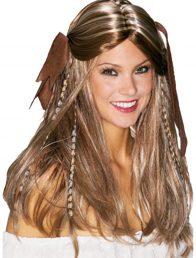 Caribbean Pirate Wench Wig, halloween costume (Caribbean Pirate Wench Wig)