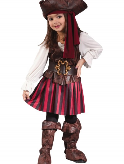 Caribbean Toddler Pirate Girl Costume, halloween costume (Caribbean Toddler Pirate Girl Costume)