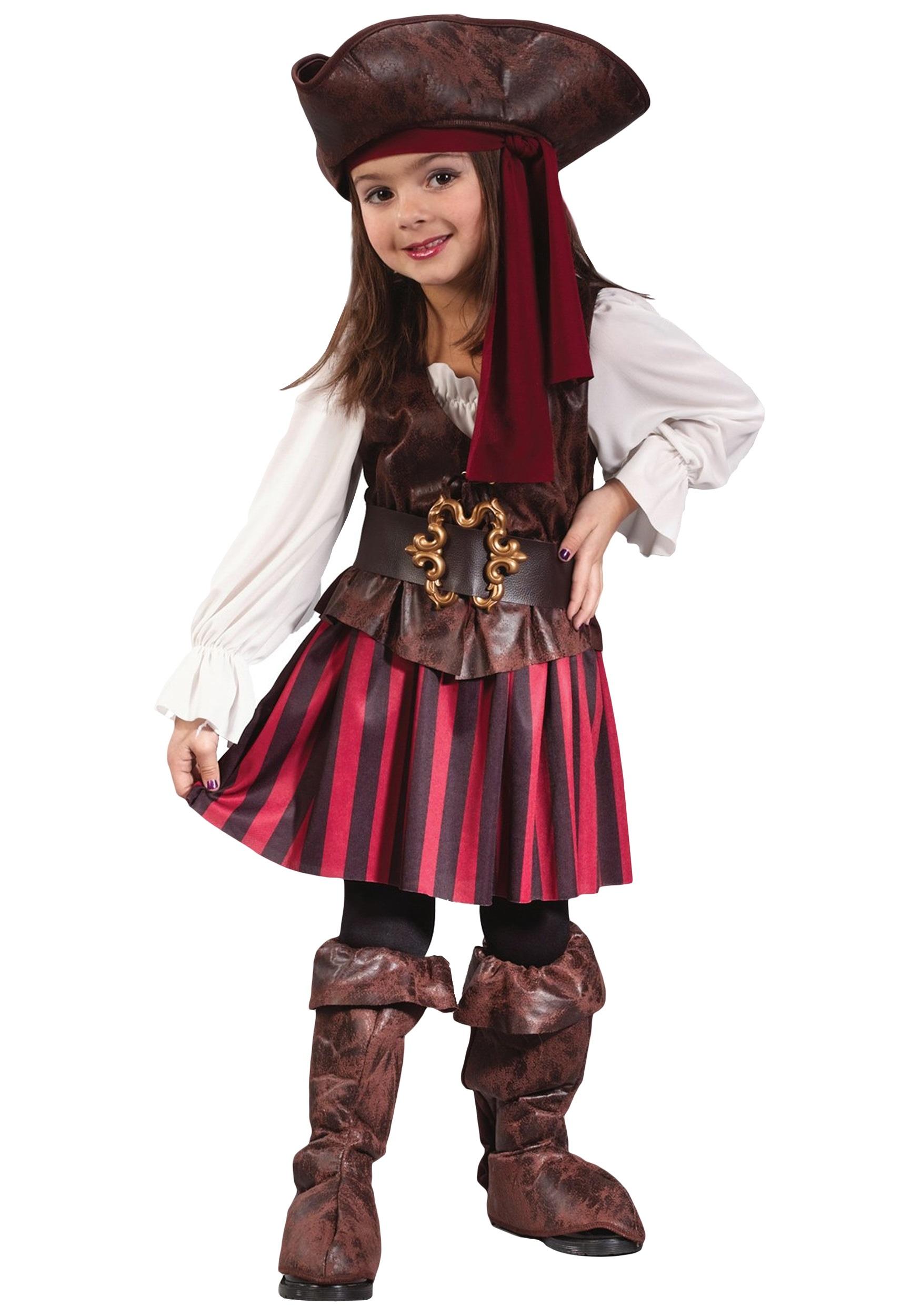 caribbean toddler pirate girl costume - halloween costumes