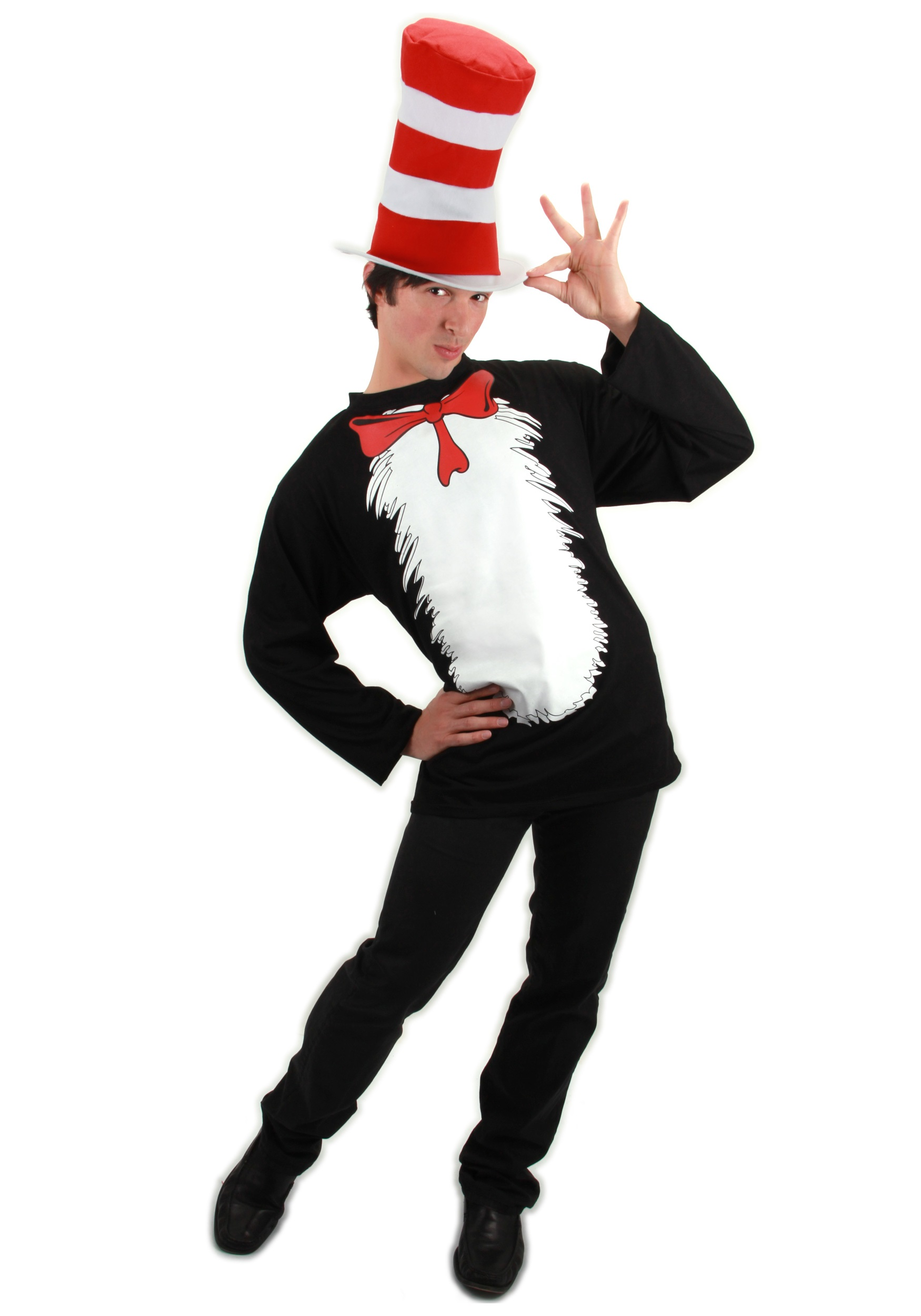 cat in the hat t-shirt costume - halloween costumes
