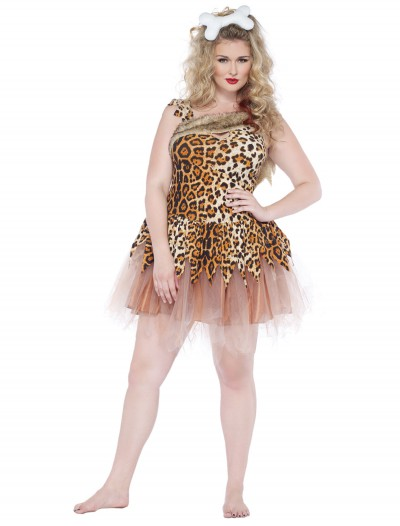 Cave Girl Cutie Plus Size Costume, halloween costume (Cave Girl Cutie Plus Size Costume)