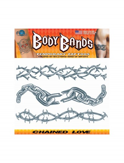 Chained Love Temporary Tattoos, halloween costume (Chained Love Temporary Tattoos)