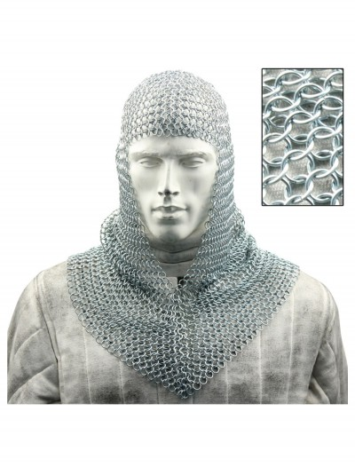 Chainmail Armor Coif, halloween costume (Chainmail Armor Coif)