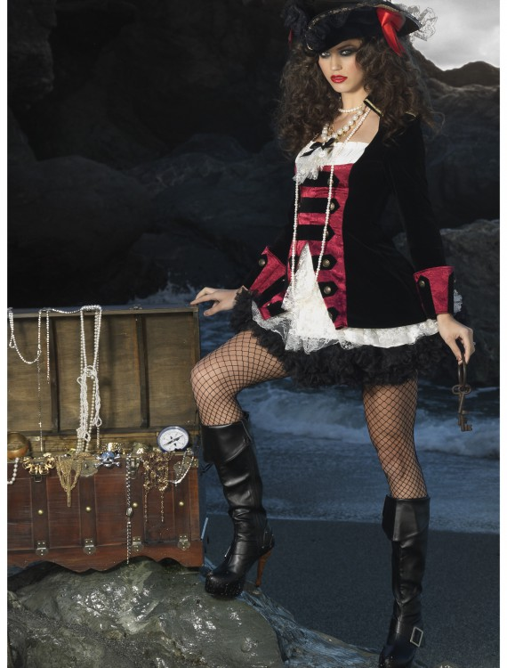 Charming Pirate Captain Costume, halloween costume (Charming Pirate Captain Costume)