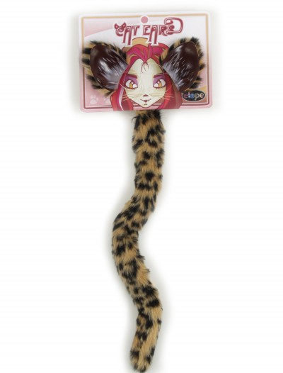 Cheetah Cat and Ears Tail Set, halloween costume (Cheetah Cat and Ears Tail Set)