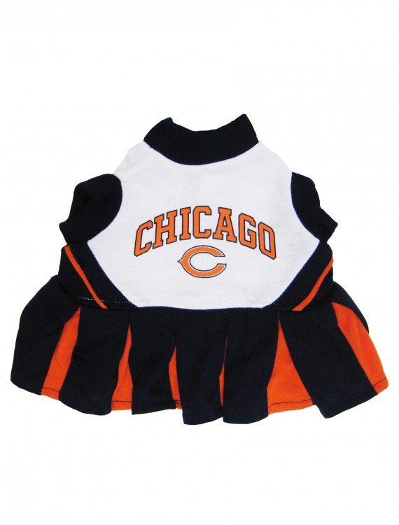 Chicago Bears Dog Cheerleader Outfit, halloween costume (Chicago Bears Dog Cheerleader Outfit)