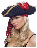 Chiffon Ruched Pirate Hat, halloween costume (Chiffon Ruched Pirate Hat)