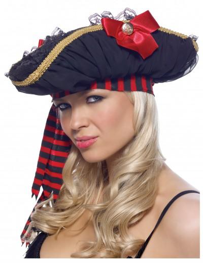 Chiffon Ruched Pirate Hat, halloween costume (Chiffon Ruched Pirate Hat)