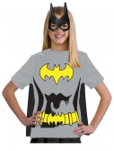 Child Batgirl T-Shirt Costume, halloween costume (Child Batgirl T-Shirt Costume)