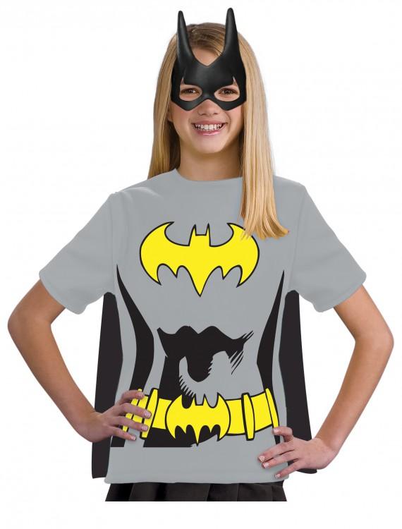 Child Batgirl T-Shirt Costume, halloween costume (Child Batgirl T-Shirt Costume)