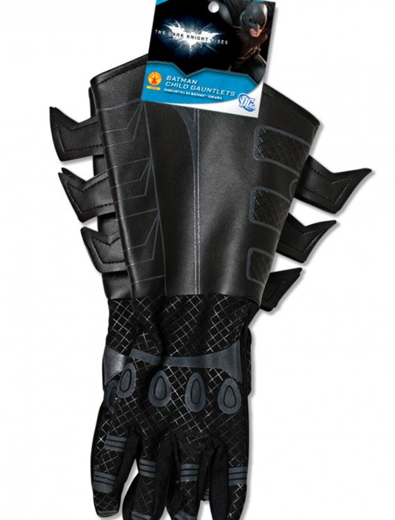 Child Batman Gauntlets, halloween costume (Child Batman Gauntlets)