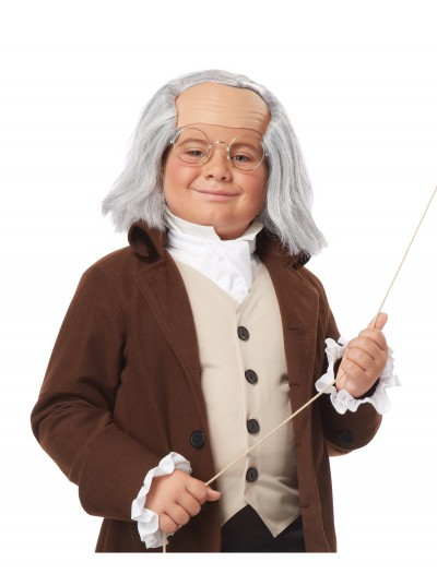 Child Benjamin Franklin Wig, halloween costume (Child Benjamin Franklin Wig)
