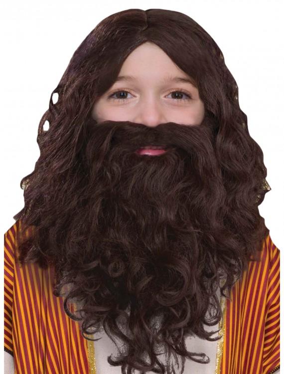 Child Biblical Wig and Beard Set, halloween costume (Child Biblical Wig and Beard Set)