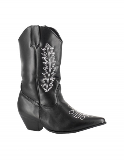 Child Black Cowboy Boots, halloween costume (Child Black Cowboy Boots)