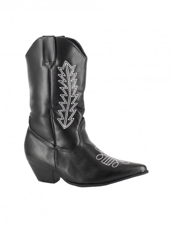 Child Black Cowboy Boots, halloween costume (Child Black Cowboy Boots)