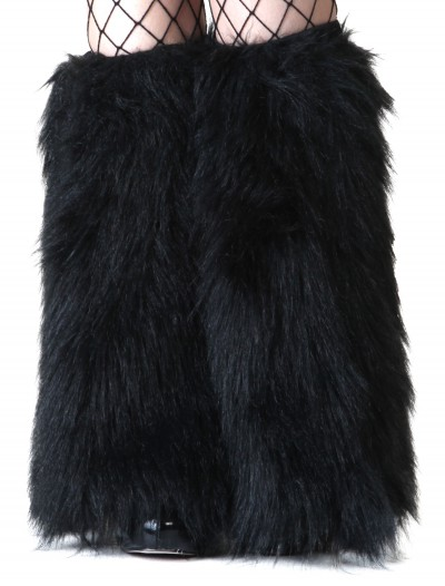 Child Black Furry Boot Covers, halloween costume (Child Black Furry Boot Covers)