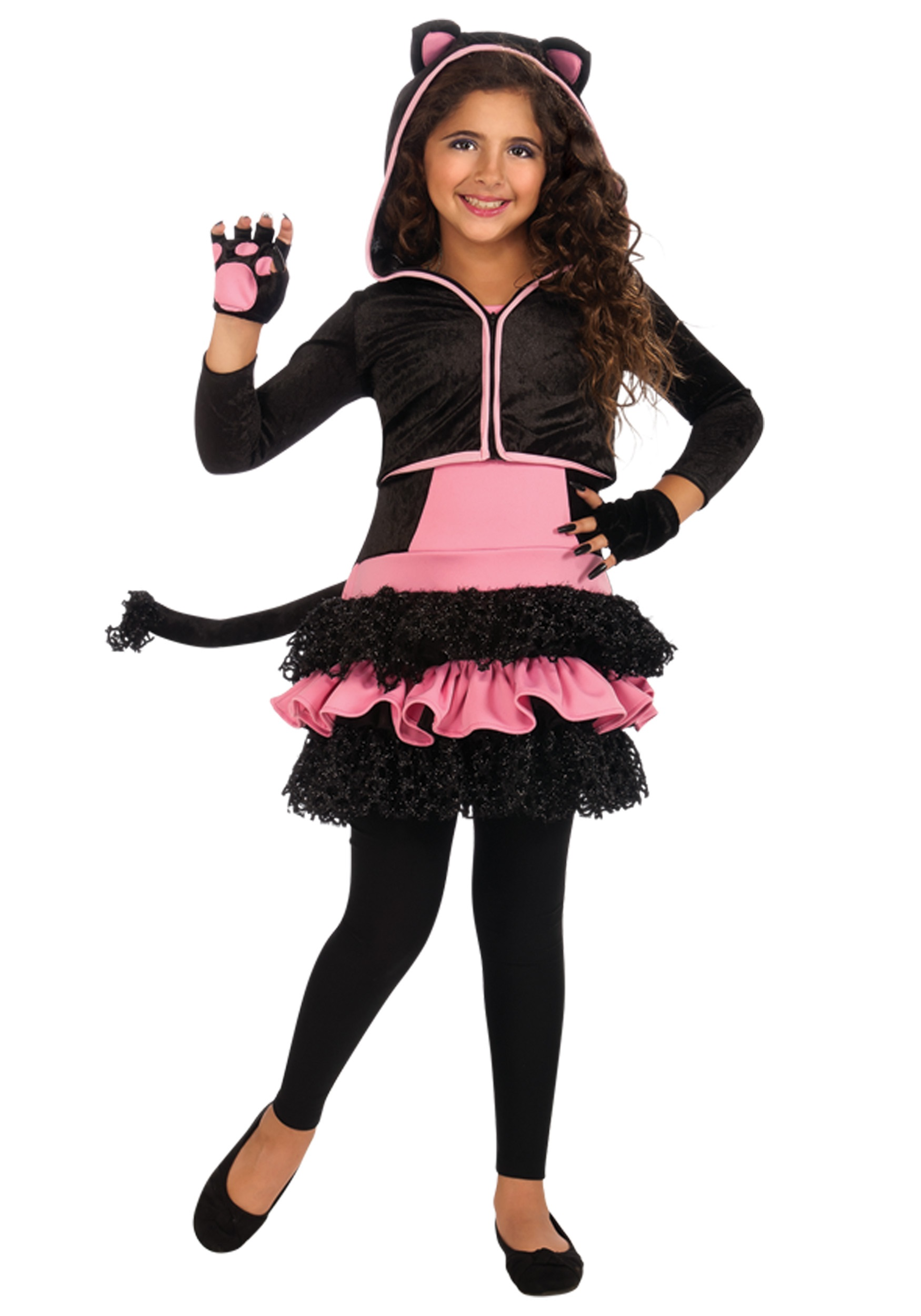 Child Black Kitty Hoodie  sc 1 st  Halloween Costumes & Child Black Kitty Hoodie - Halloween Costumes