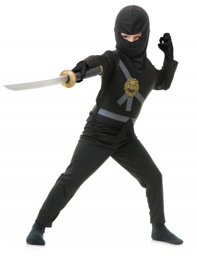 Child Black Ninja Master Costume, halloween costume (Child Black Ninja Master Costume)